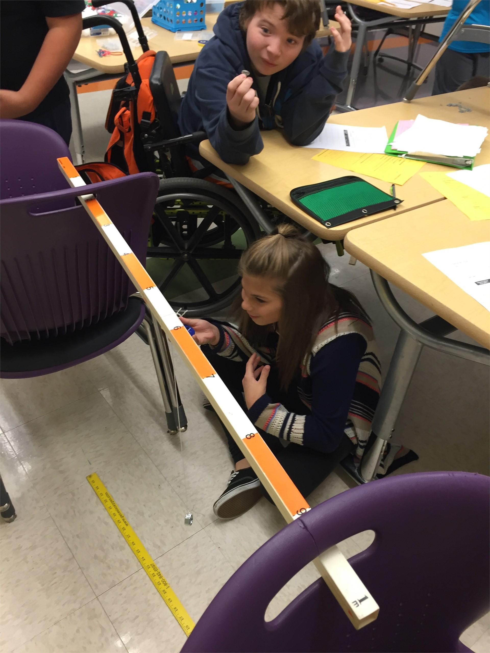 Cadence watching her groups pendulum!